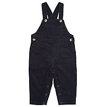 Buy Wheat Baby Corduroy Overalls, Navy Online at johnlewis.com