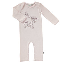 Buy Wheat Baby Frill Bird Print Playsuit, Pink Online at johnlewis.com