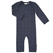 Buy Wheat Baby Star Print Playsuit, Navy Online at johnlewis.com