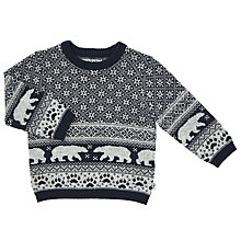 Buy Wheat Baby Jacob Knit Pullover, Navy Online at johnlewis.com