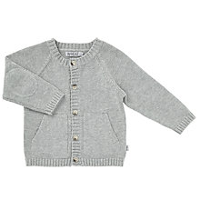 Buy Wheat Baby Knitted Cardigan, Grey Online at johnlewis.com