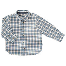 Buy Wheat Baby Pelle Checked Shirt, Blue Online at johnlewis.com