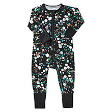 Buy Bonds Baby Zip Glitter Bom Wondersuit Sleepsuit, Black Online at johnlewis.com