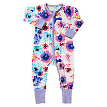 Buy Bonds Baby Zip Petal Pow Wondersuit Sleepsuit, Multi Online at johnlewis.com