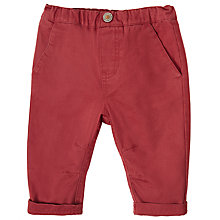 Buy Wheat Baby Twill Noah Trousers, Rosewood Online at johnlewis.com