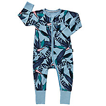 Buy Bonds Baby Zip Jungle Rumble Wondersuit Sleepsuit, Multi Online at johnlewis.com