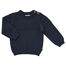 Buy Wheat Baby Carlos Knit Pullover, Navy Online at johnlewis.com