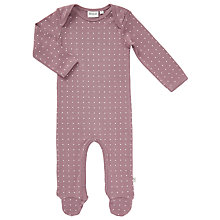 Buy Wheat Baby Frill Patterned Sleepsuit, Lavender Online at johnlewis.com