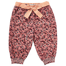 Buy Wheat Baby Bow Floral Trousers, Rouge Online at johnlewis.com