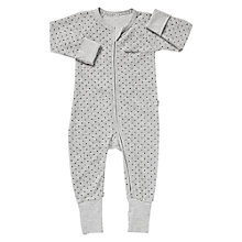 Buy Bonds Baby Spot Print Zip Sleepsuit, Grey Marl Online at johnlewis.com