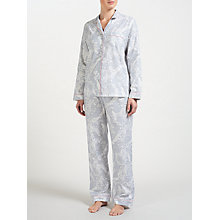 Buy John Lewis Martha Floral Print Pyjama Set, Grey/Ivory Online at johnlewis.com