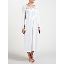 Buy John Lewis Teresa Teardrop Print Cotton Nightdress, Ivory/Multi Online at johnlewis.com