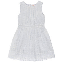 Buy Jigsaw Girls' Chiffon Square Party Dress, Sky Blue Online at johnlewis.com