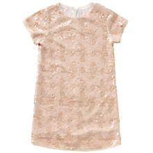 Buy Jigsaw Girls' Stardust Sequin Dress, Nude Online at johnlewis.com
