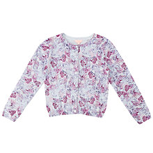 Buy Jigsaw Girls' Butterfly Print Cardigan, Lilac Online at johnlewis.com