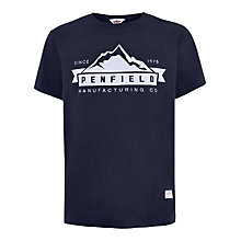 Buy Penfield Mountain Logo T-shirt, Navy Online at johnlewis.com
