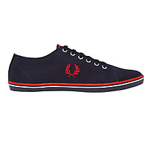 Buy Fred Perry Kingston Twill Canvas Plimsolls, Navy Online at johnlewis.com