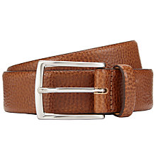 Buy John Lewis Made in Italy Pebble Leather Belt, Tan Online at johnlewis.com