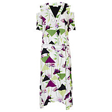 Buy Finery Patmos Triangle Cold Shoulder Print Dress, Multi Online at johnlewis.com