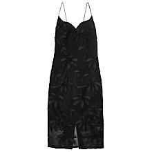 Buy Finery Marmont Embroidered Airtex Dress, Black Online at johnlewis.com