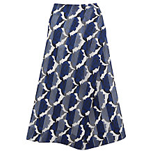Buy Finery Cambridge China Rose Print Skirt, Blue Online at johnlewis.com