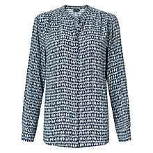 Buy Gerry Weber Printed Blouse, Blue Online at johnlewis.com