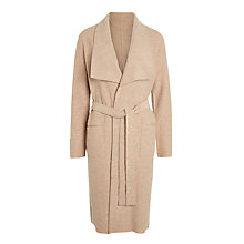 Buy Gerry Weber Boiled Wool Longline Coat, Caramel Melange Online at johnlewis.com