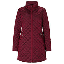 Buy Gerry Weber Diamond Quilted Coat, Burgundy Online at johnlewis.com