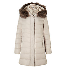 Buy Gerry Weber Hooded Gilet Padded Coat, Almond Online at johnlewis.com