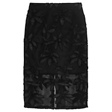 Buy Finery Marman Embroidered Airtex Skirt, Black Online at johnlewis.com