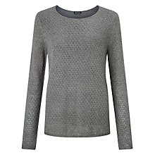 Buy Gerry Weber Openwork Metallic Fibre Jumper, Tin Melange Online at johnlewis.com