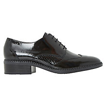 Buy Dune Franklyne Lace Up Brogues, Black Patent Online at johnlewis.com