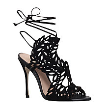 Buy KG by Kurt Geiger Horatio Cut Out Stiletto Sandals, Black Online at johnlewis.com