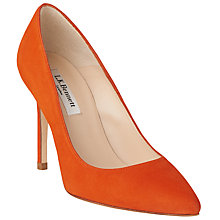 Buy L.K. Bennett Fern Court Shoes, Orange Suede Online at johnlewis.com