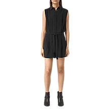 Buy AllSaints Nila Playsuit, Black Online at johnlewis.com