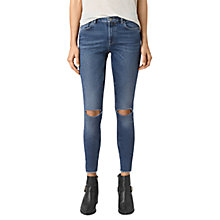 Buy AllSaints Stilt Cropped Jeans, Dark Indigo Blue Online at johnlewis.com