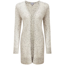 Buy Pure Collection Haley Rib Cashmere Cardigan, Heather Grey Fleck Online at johnlewis.com