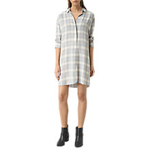 Buy AllSaints Check Marlon Dress, Light Blue Online at johnlewis.com