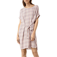 Buy AllSaints Sonny Check Dress, Pink Online at johnlewis.com