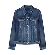 Buy Violeta by Mango Dark Wash Denim Jacket, Open Blue Online at johnlewis.com