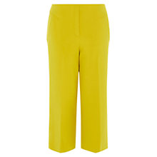 Buy Karen Millen Cropped Wide Leg Trousers, Yellow Online at johnlewis.com