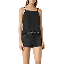 Buy AllSaints Lyon Top, Black Online at johnlewis.com