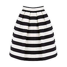 Buy Warehouse Stripe Prom Skirt, Black/White Online at johnlewis.com