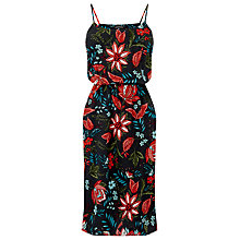Buy Warehouse Botanical Drawn Floral Dress, Black Pattern Online at johnlewis.com