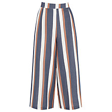 Buy Warehouse Striped Culottes, Blue Online at johnlewis.com