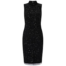 Buy Adrianna Papell Mock Turtleneck Beaded Dress, Black Online at johnlewis.com