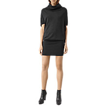 Buy AllSaints Elis Cowl Neck Dress, Charcoal Grey Online at johnlewis.com