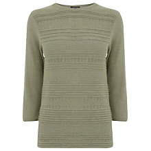 Buy Warehouse Pretty Stitch Crew Jumper, Light Green Online at johnlewis.com