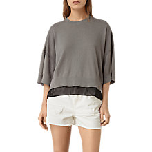 Buy AllSaints Relm Knit Top, Quartz Pink Online at johnlewis.com