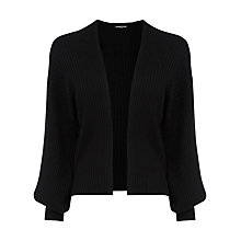 Buy Warehouse Balloon Sleeve Cardigan, Black Online at johnlewis.com